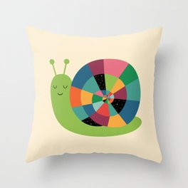 Snail Time Throw Pillow