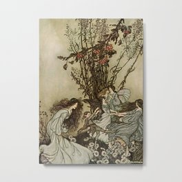 """Dancing With the Fairies"" by Arthur Rackham Metal Print"