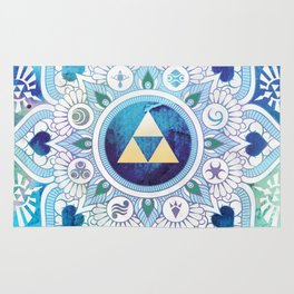A Legendary Blue/Green Zelda Mandala Rug