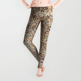 Silk Esfahan Persian Carpet Print Leggings
