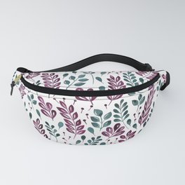 Wistful Floral - Burgundy and Green Fanny Pack