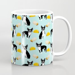 Boston Terrier tacos fast food junk food mexican food texmex fun dog art funny pet portrait animal Coffee Mug