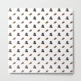 Biggie & Tupac Pattern Metal Print
