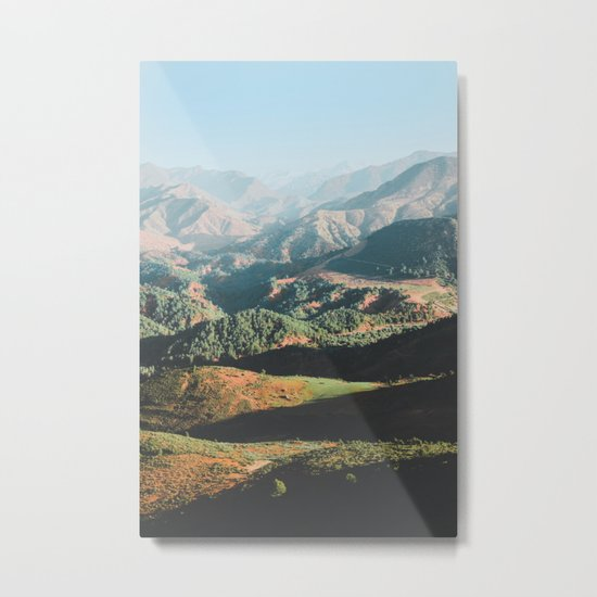 Layers of the Atlas Mountains, Africa Metal Print