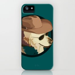 Golden Retriever in a Cowboy Hat iPhone Case