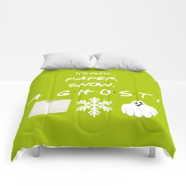"""""""Paper, Snow, A Ghost!"""" - Friends TV Show Comforters"""