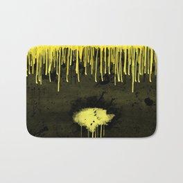 Yellow Drips Bath Mat
