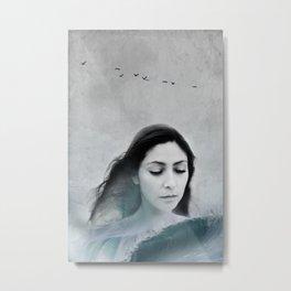 wave-portrait Metal Print
