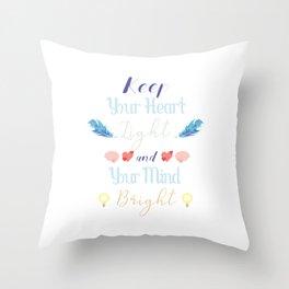 Light/Bright Throw Pillow