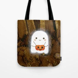 Little ghost and pumpkin Umhängetasche