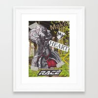 racing Framed Art Prints featuring Racing by Bradley Stanbary