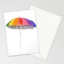 Rainbow Beach Umbrella Stationery Cards