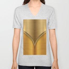 Brushed Gold Unisex V-Neck