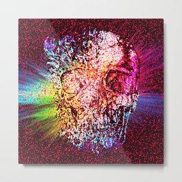 Mozaik Skull Pattern Metal Print