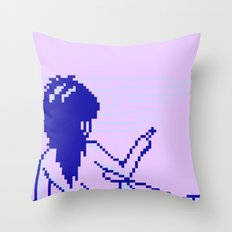 Cold Spectral Babes Throw Pillow