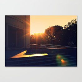 Pennsylvania State Museum with Sun Flare Canvas Print