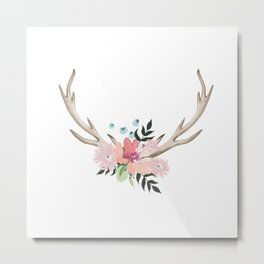 watercolor horns Metal Print