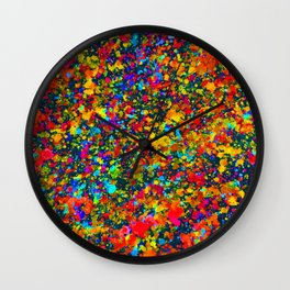 Inverted Watercolor Splash Abstract Painting Wall Clock