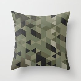 Isometric Camo Throw Pillow