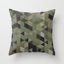 Isometric Camo Throw Pillow
