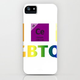 Accept LGBTQ+ Primary Elements Of Tolerance iPhone Case