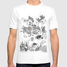 The Life of a Sea Turtle Mens Fitted Tee MEDIUM White