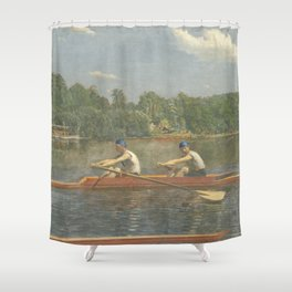 The Biglin Brothers Racing by Thomas Eakins Shower Curtain