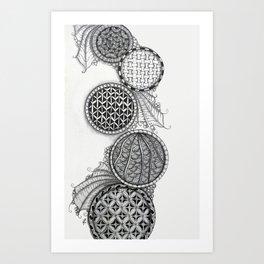 Cascading Patterned Circles Art Print