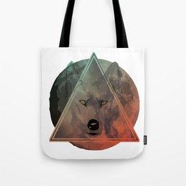 Wolf Galaxy (Green) Tote Bag