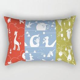 deer animals swan sheep dog whale animals flower Rectangular Pillow