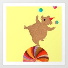 Circus Bears I Art Print