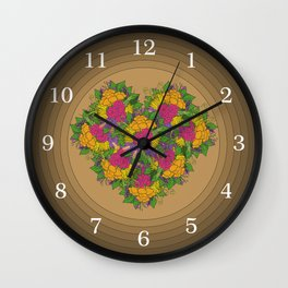 Flowers of Love Wall Clock