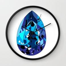 GEMS - blue , shine , single piece Wall Clock
