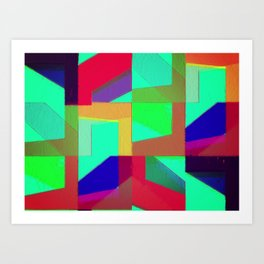 Colorful Truth. Green. Art Print