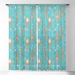 Mermaids Sheer Curtain
