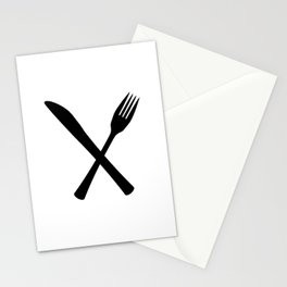 Knife And Fork Stationery Cards