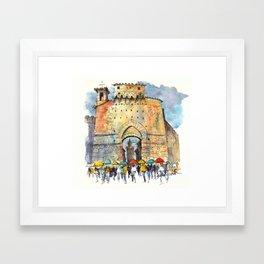 Gate of San Gimignano, Tuscany Framed Art Print