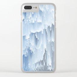 Waterfall glitch Clear iPhone Case