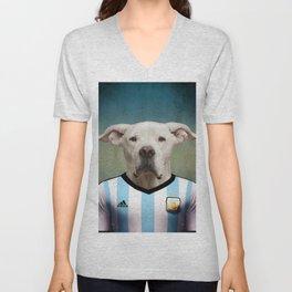 Worldcup 2014 : Argentine - Dogo argentino Unisex V-Neck
