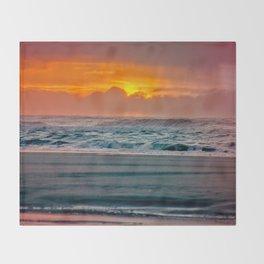 Ocean Sunset - Pacific Coast Highway 101 Throw Blanket