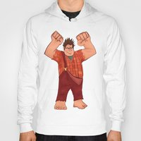 wreck it ralph Hoodies featuring I'm Gonna Wreck It! by shaunaoconnor