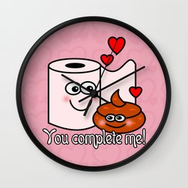 You Complete Me! Wall Clock