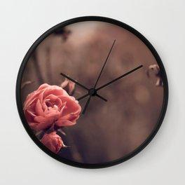 Magnificent Gracious Bush Of Roses Close Up Ultra HD Wall Clock