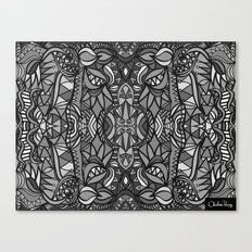 Roller Coaster Black and White Canvas Print