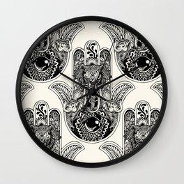 Hamsa Hand Elephant Wall Clock