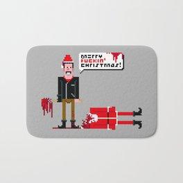 Negan Christmas Card Bath Mat
