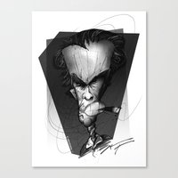 clint eastwood Canvas Prints featuring Clint Eastwood by alexviveros.net