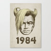 1984 Canvas Prints featuring 1984 by Eric Fan
