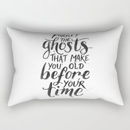 Forget the Ghosts - White Rectangular Pillow