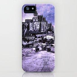 Fantasy Castle Night : Lavender iPhone Case
